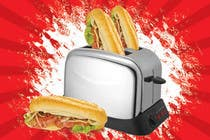 Contest Entry #16 for Design a sub stuffed into a toaster graphic