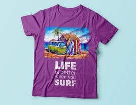 Nro 9 kilpailuun Design a Funky  Surf T-Shirt käyttäjältä BlueGenie95