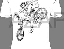 AZapanta tarafından 1 color Trendy Cool Hipster Alternative Bicycle T-Shirt Design(s) için no 15