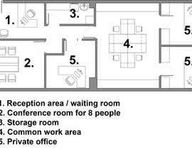 petrovickatarina tarafından Office floor plan and furniture layout için no 19