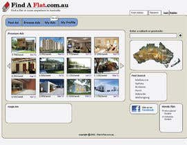 #7 untuk Graphic Design for The business is called 'FindAFlat.com.au' oleh gOzaru84
