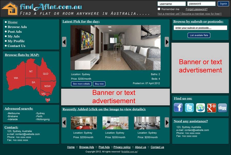 Inscrição nº                                         17                                      do Concurso para                                         Graphic Design for The business is called 'FindAFlat.com.au'
