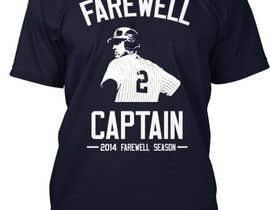 nº 4 pour Design a T-Shirt for Derek Jeter New York Yankees Farewell par danula