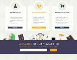 grapkisdesigner tarafından home landing page svg png design website UX UI designer için no 48