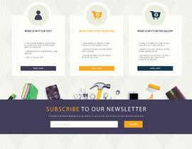 grapkisdesigner tarafından home landing page svg png design website UX UI designer için no 49