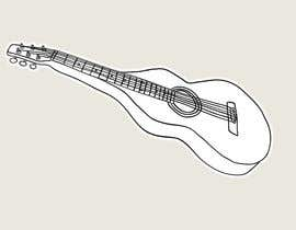 #22 untuk B&W vector sketch drawing of a guitar from photo oleh Stevieyuki