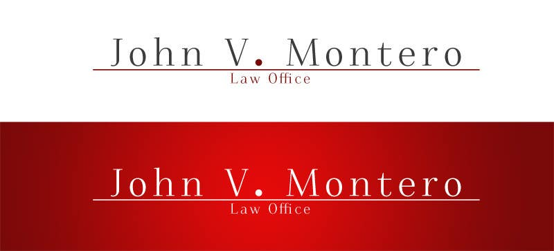 Contest Entry #124 for Logo Design for Law Office of John V. Montero