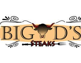 #70 for Design a logo for Big D's Steaks by carlamartire