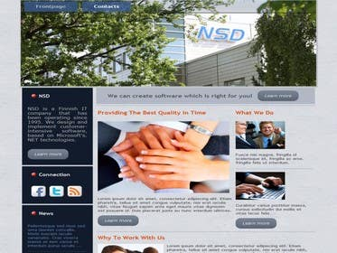 #1 for Design a new web site www.nsd.fi by dineshajar