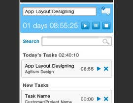 nº 7 pour Design a time tracking application par seguro
