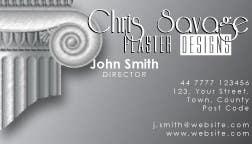 Penyertaan Peraduan #7 untuk Business Card Design for Chris Savage Plaster Designs