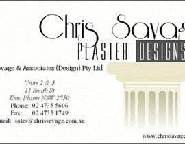 nº 9 pour Business Card Design for Chris Savage Plaster Designs par kidzao