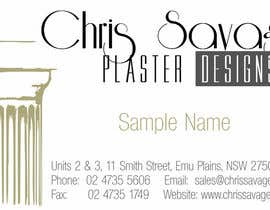 nº 5 pour Business Card Design for Chris Savage Plaster Designs par veebaby