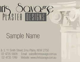 #8 para Business Card Design for Chris Savage Plaster Designs por veebaby
