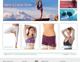 #82 para Design a Website Mockup for Elite Yoga Gear por MrHankey