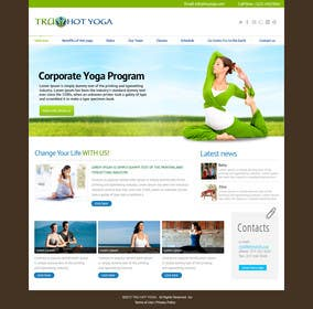 #114 for Design a Website Mockup for Elite Yoga Gear by bestatall