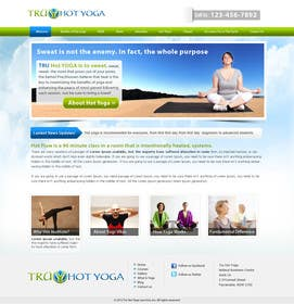 #118 for Design a Website Mockup for Elite Yoga Gear by bestatall