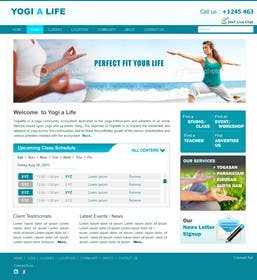#121 for Design a Website Mockup for Elite Yoga Gear by bestatall