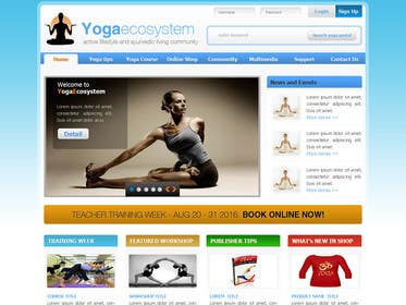 #124 for Design a Website Mockup for Elite Yoga Gear by bestatall