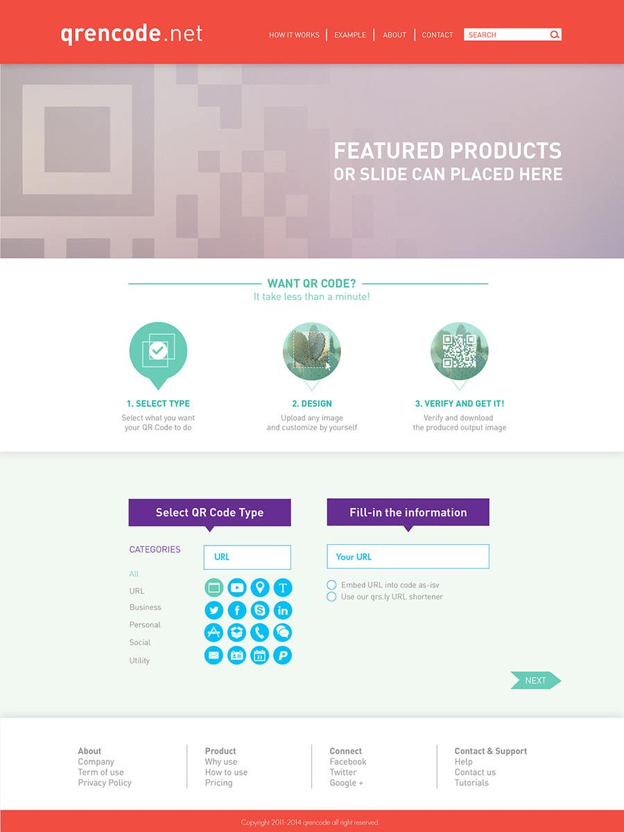 #46 for Design a Website User Interface for QRcode generation company by noninoey
