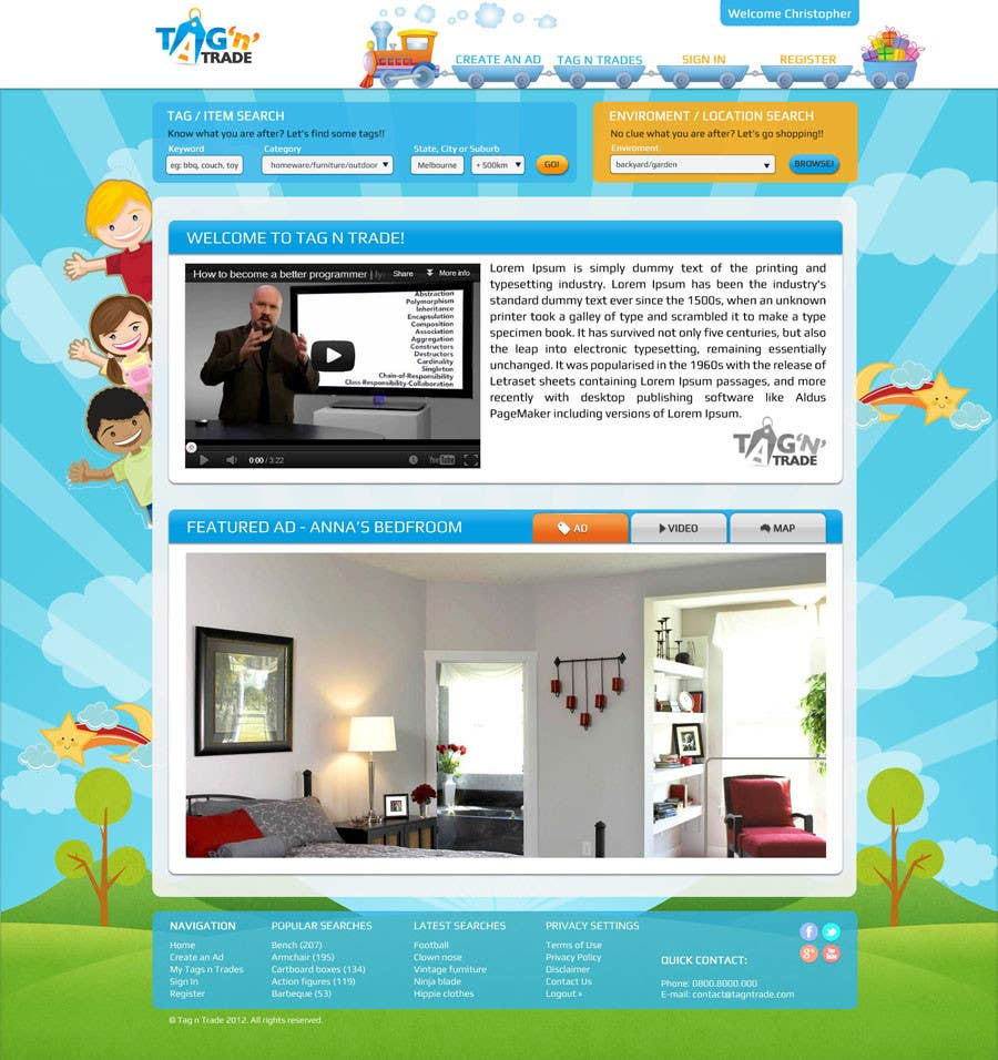 Konkurrenceindlæg #14 for Design a Website Homepage for www.tntbaby.com.au