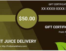 Lakshmipriyaom tarafından Design a Gift Certificate for a Juice Company için no 41
