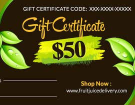 #39 for Design a Gift Certificate for a Juice Company by RoboExperts