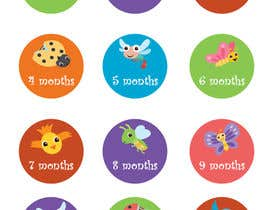 #6 for create 12 animation for baby monthly stickers by arvindbhagwat