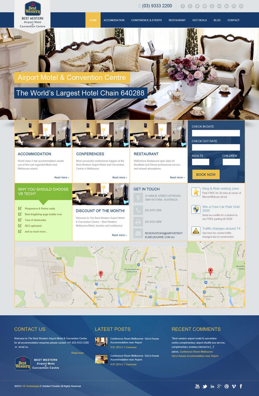 Proposition n°32 du concours Create a Wordpress Template for Hotel