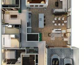 Nro 19 kilpailuun Create a  3D Model of a Floorplan käyttäjältä reem1794