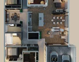 Nro 26 kilpailuun Create a  3D Model of a Floorplan käyttäjältä reem1794