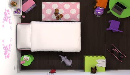 #10 for Create a small, easy and very simple girls bedroom scene by redlampdesign
