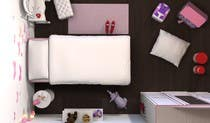 Contest Entry #24 for Create a small, easy and very simple girls bedroom scene