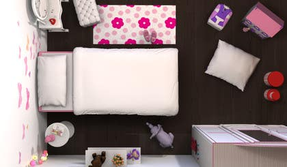 #37 for Create a small, easy and very simple girls bedroom scene by redlampdesign