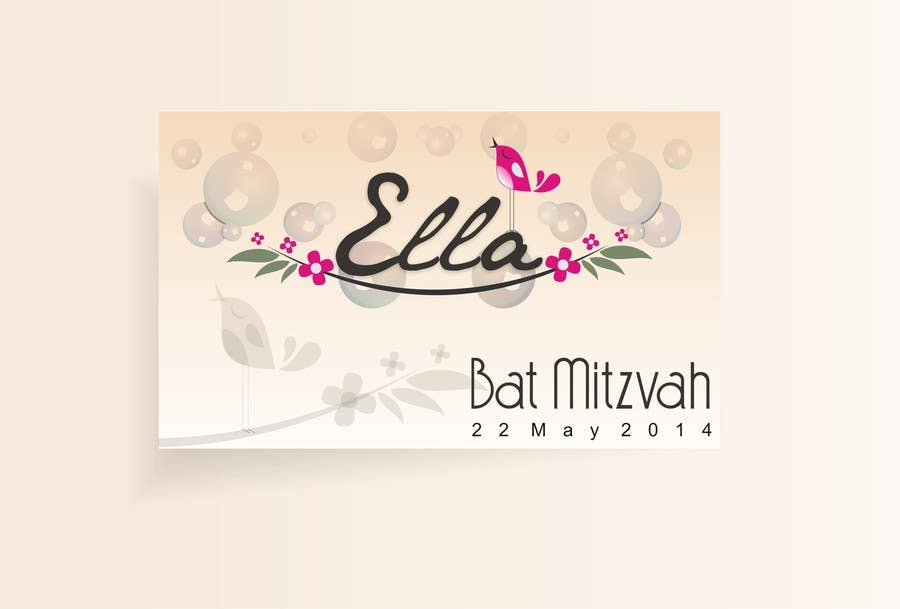 #13 for Design a Logo for my daughter's bat mitzvah by xahe36vw