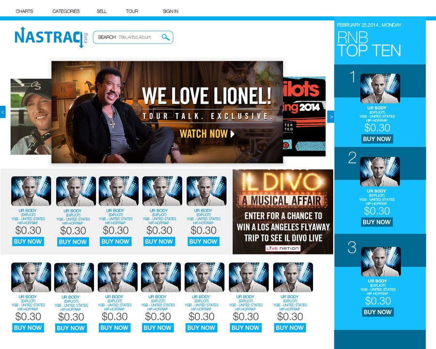 #3 for 2 Page Website re-design contest by Ashleyperez