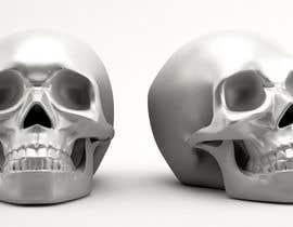 Bacvu tarafından 3D silver skull için no 14