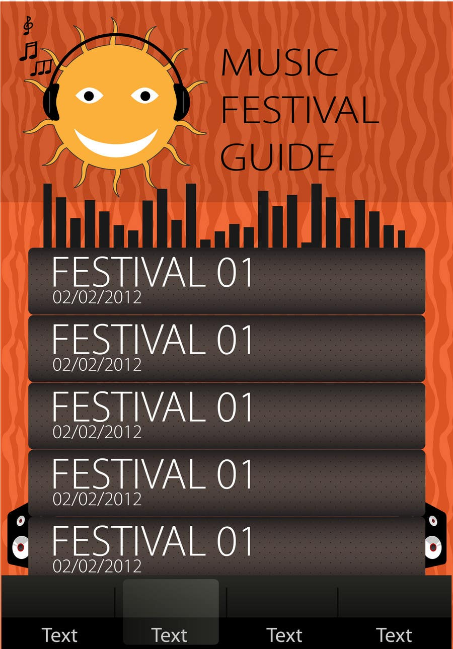 Contest Entry #3 for Graphic Design for Music Festival Guide (iPhone Application)