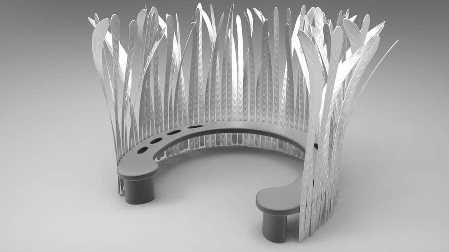 Kilpailutyö #4 kilpailussa Create 3D drawing from hand sketch of proposed sculpture