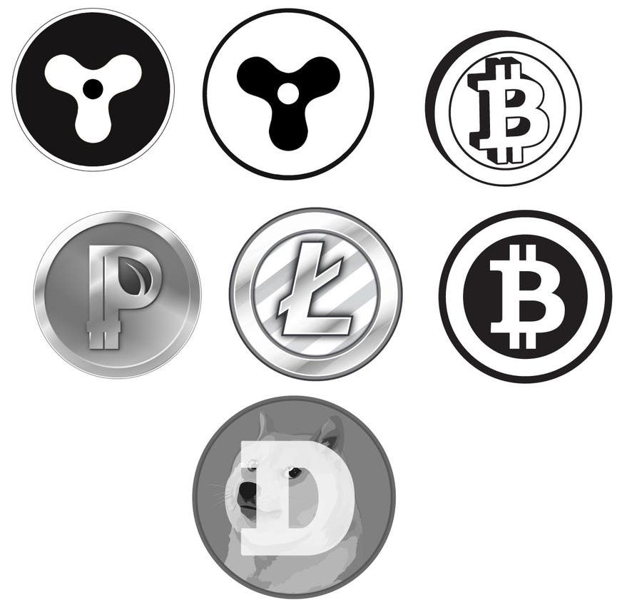 Inscrição nº 4 do Concurso para Cryptocurrencies Black and White Illustrations