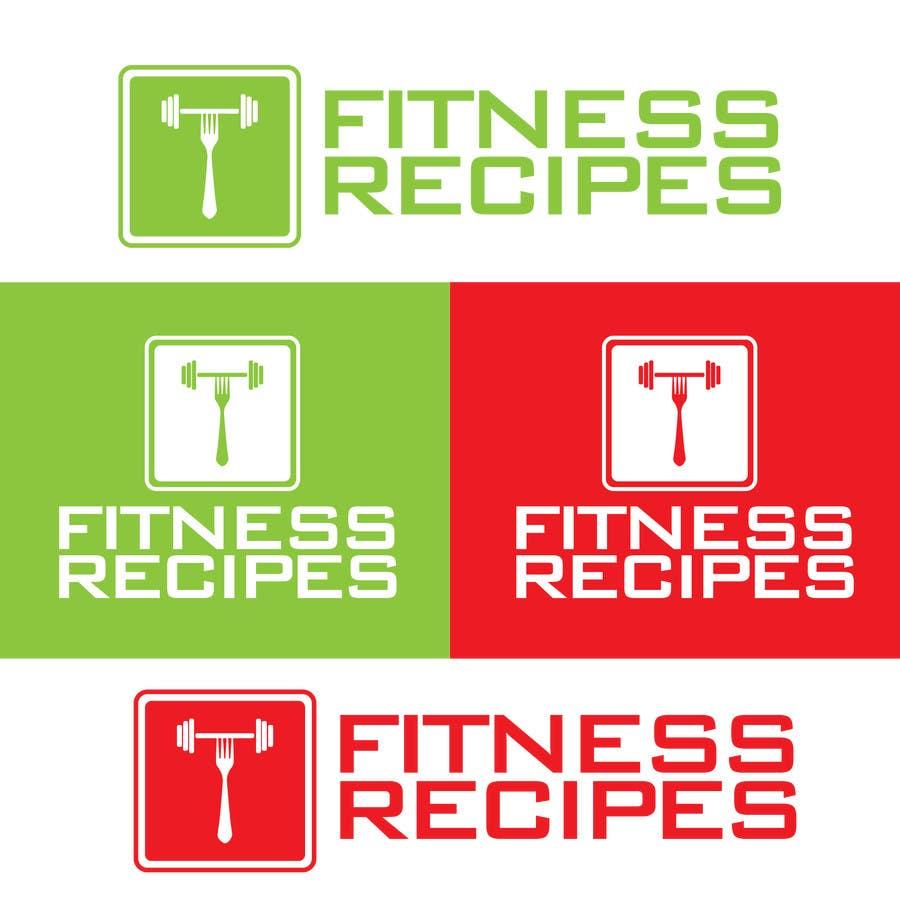 Kilpailutyö #3 kilpailussa Design a Logo for Fitness Recipes