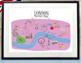 Nro 2 kilpailuun London Market Map käyttäjältä minastudio