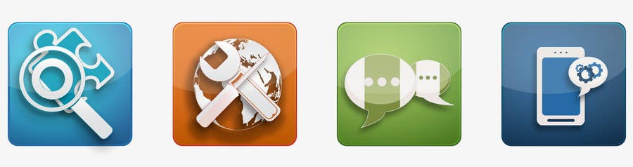 #116 for Button Design for Homepage Icons by mikaelBerglund