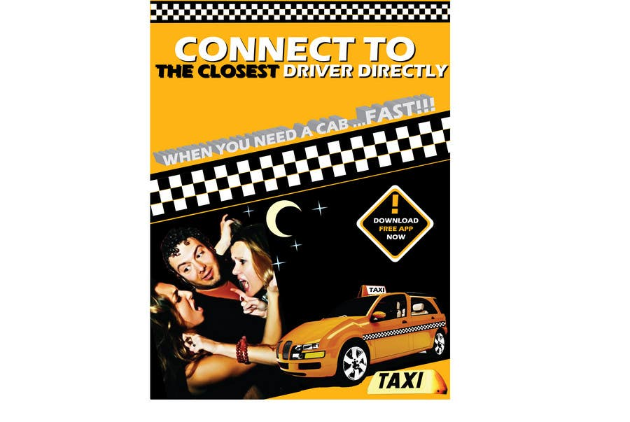 Penyertaan Peraduan #                                        29                                      untuk                                         Advertisement Design for this will be a poster for a taxi cab app