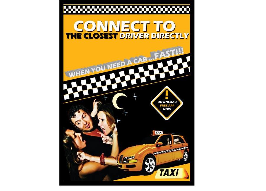 Penyertaan Peraduan #                                        30                                      untuk                                         Advertisement Design for this will be a poster for a taxi cab app