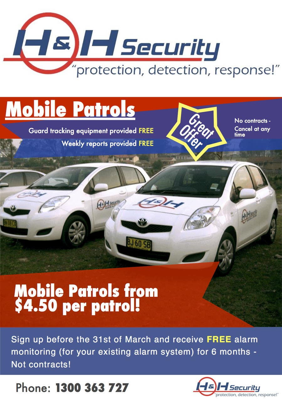 #18 for Design a Flyer for Mobile Patrol promotion by lachlan00