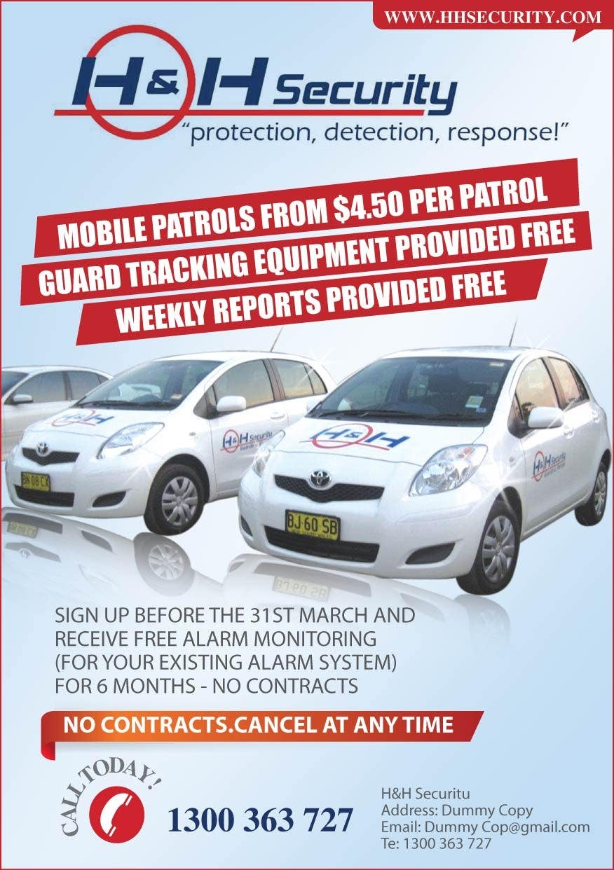 #33 for Design a Flyer for Mobile Patrol promotion by amcgabeykoon