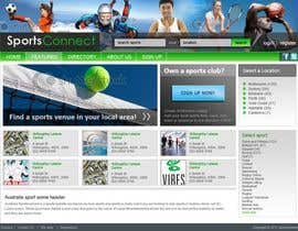#102 para Website Design for Sportsconnect de fecodi