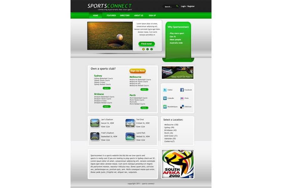 Inscrição nº 7 do Concurso para Website Design for Sportsconnect