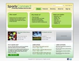 #98 para Website Design for Sportsconnect de Kashins